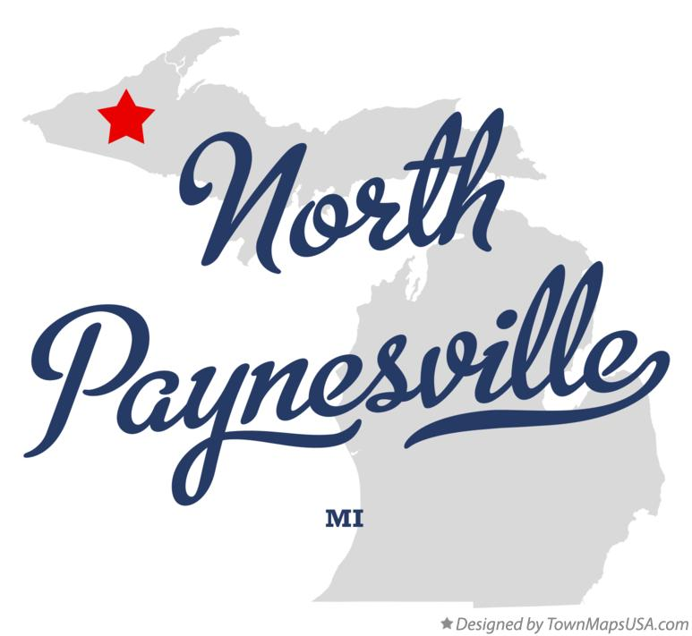 Map of North Paynesville Michigan MI