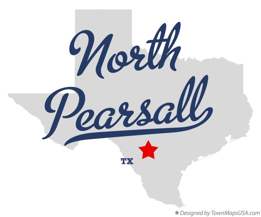 Map of North Pearsall Texas TX