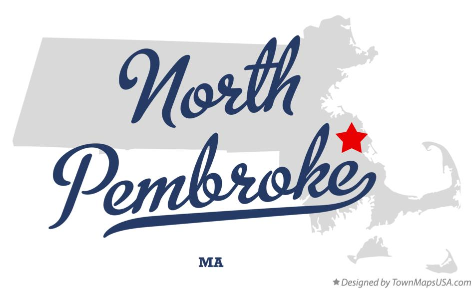 Map of North Pembroke Massachusetts MA