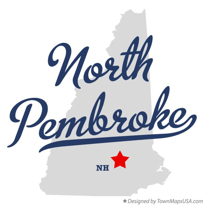 Map of North Pembroke New Hampshire NH