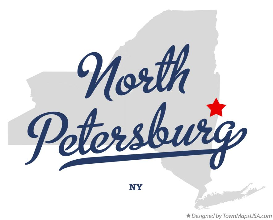 Map of North Petersburg New York NY