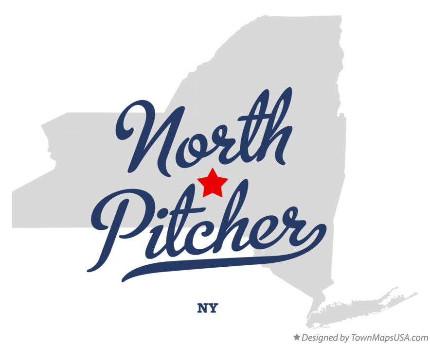 Map of North Pitcher New York NY