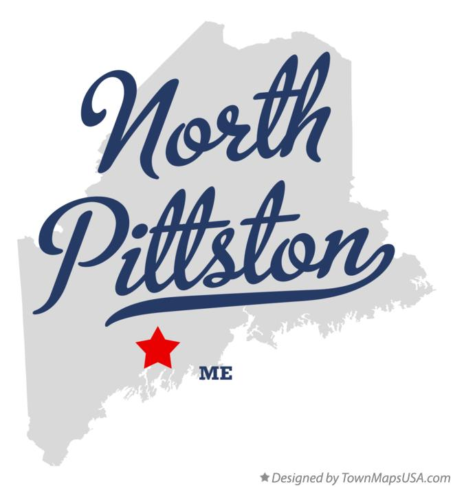 Map of North Pittston Maine ME