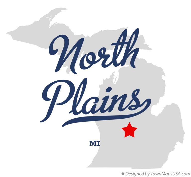Map of North Plains Michigan MI