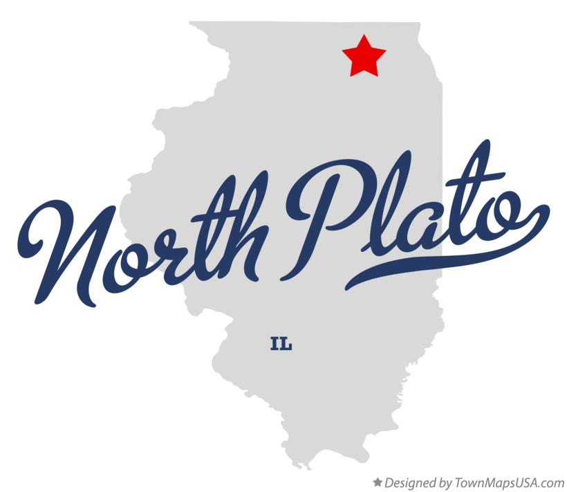 Map of North Plato Illinois IL
