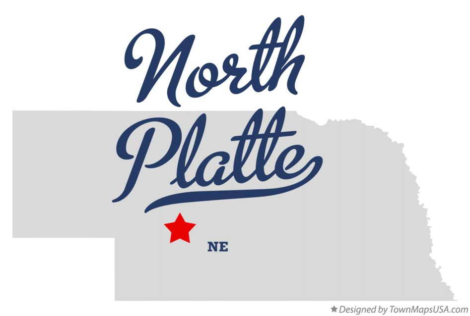 Map of North Platte Nebraska NE