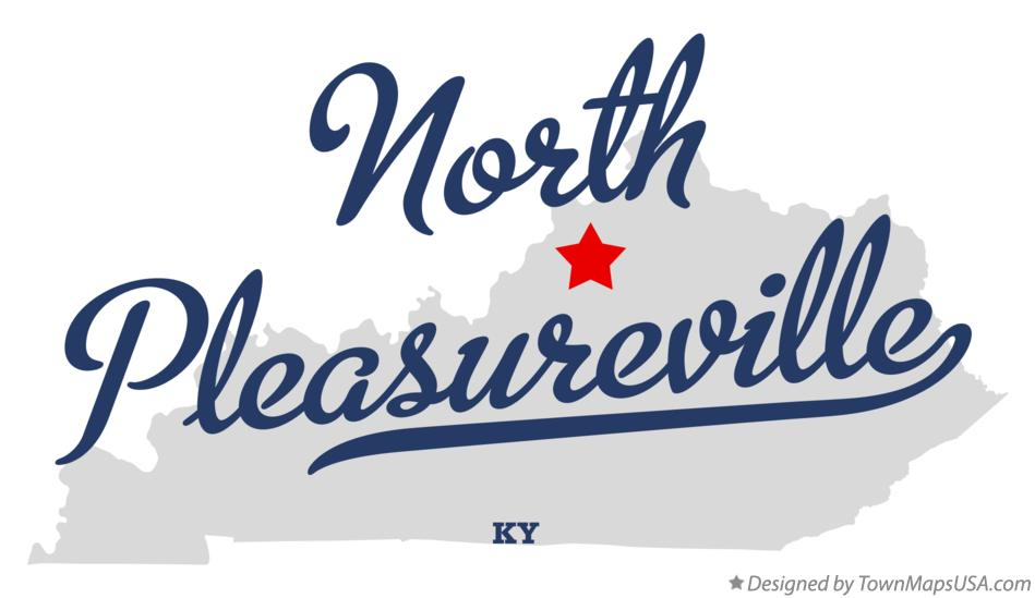 Map of North Pleasureville Kentucky KY