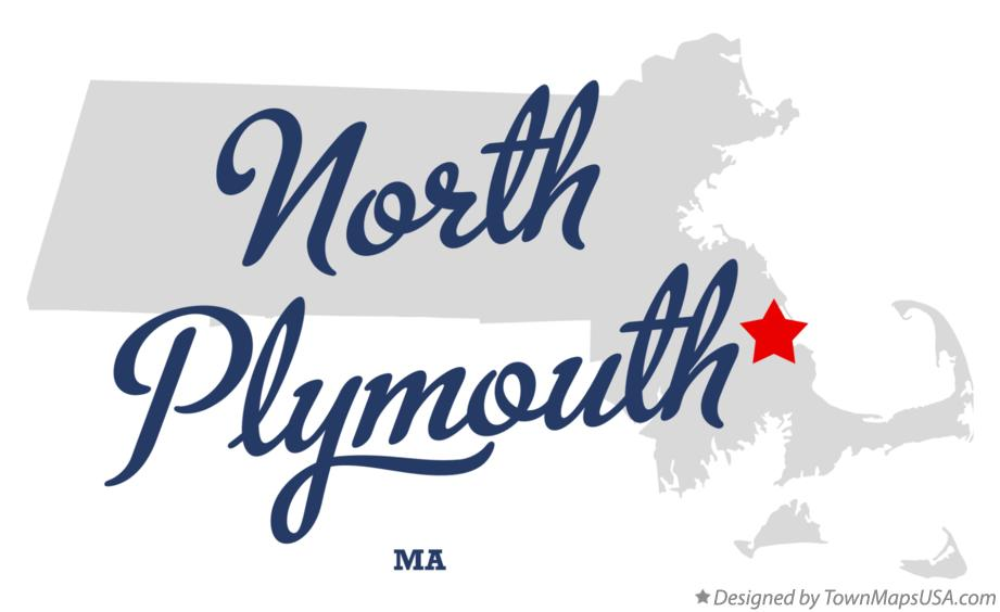 Map of North Plymouth Massachusetts MA