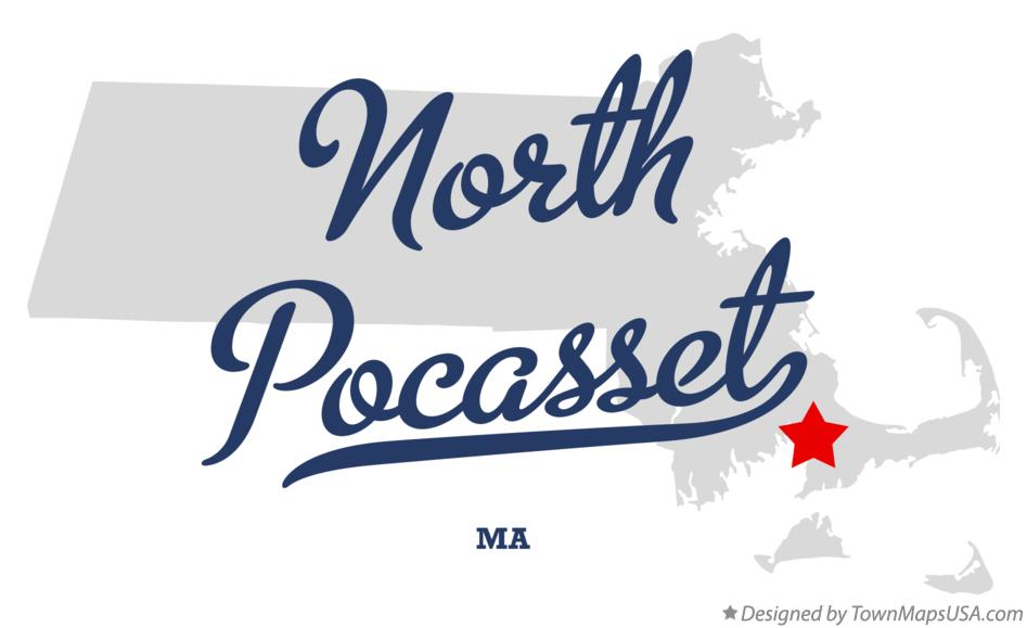 Map of North Pocasset Massachusetts MA