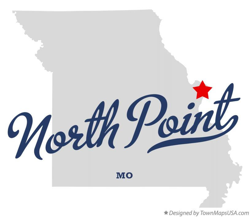 Map of North Point Missouri MO