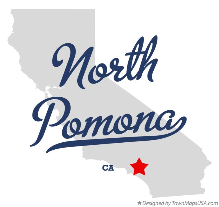 Map of North Pomona California CA