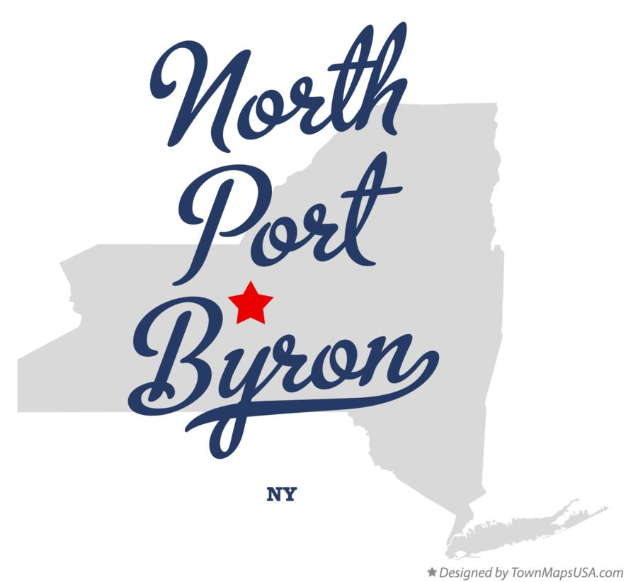 Map of North Port Byron New York NY