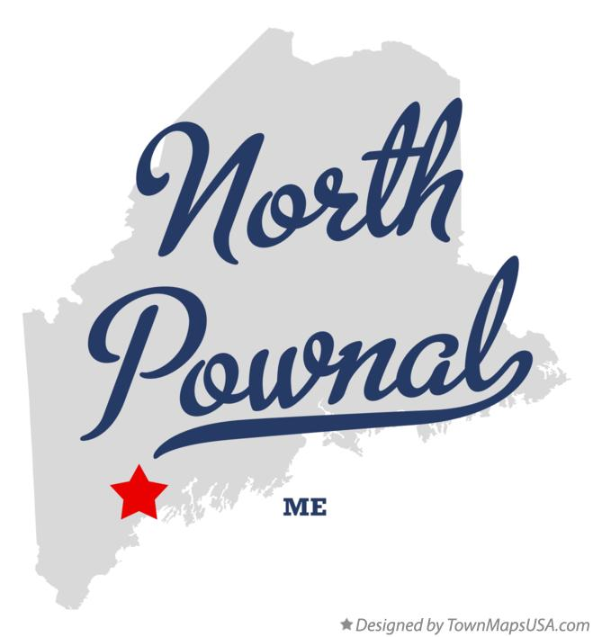 Map of North Pownal Maine ME