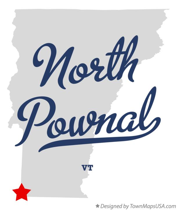 Map of North Pownal Vermont VT