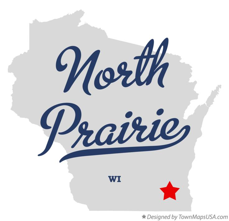 Map of North Prairie Wisconsin WI