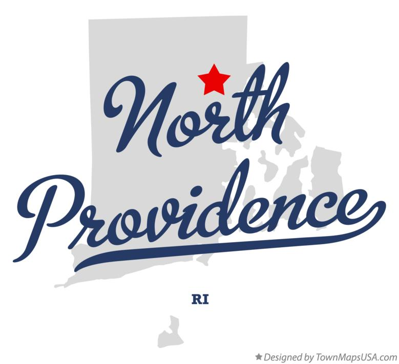 Map of North Providence RI Rhode Island