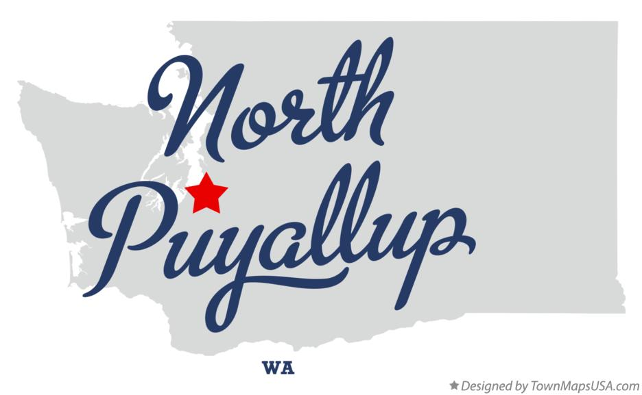 Map of North Puyallup Washington WA