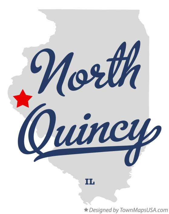 Map of North Quincy Illinois IL