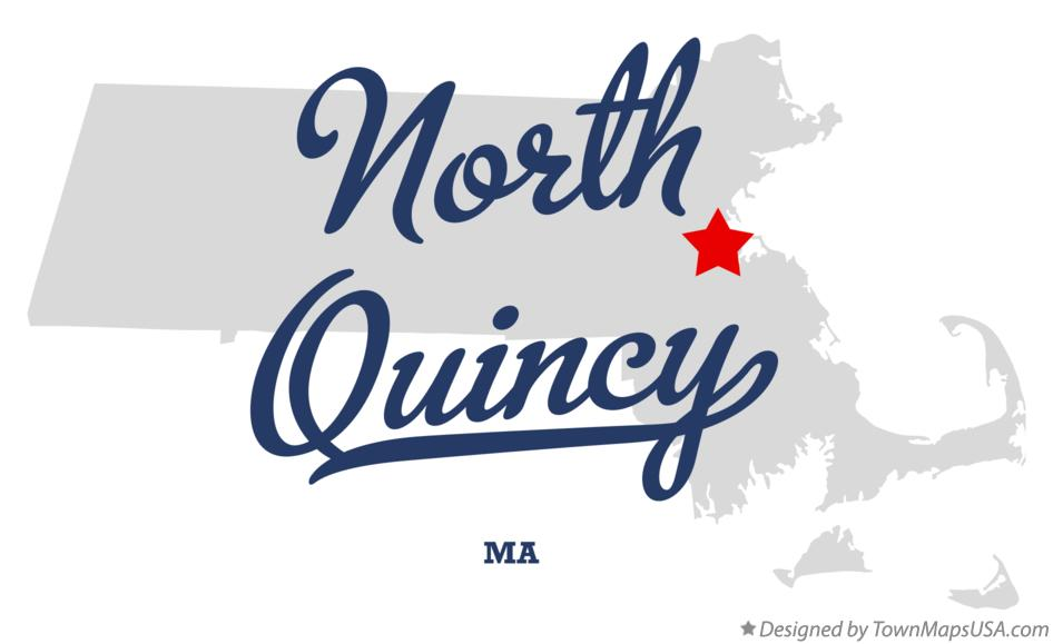 Map of North Quincy Massachusetts MA