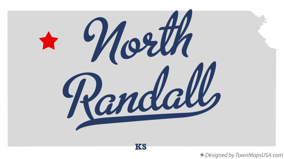 Map of North Randall Kansas KS