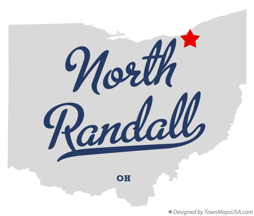 Map of North Randall Ohio OH