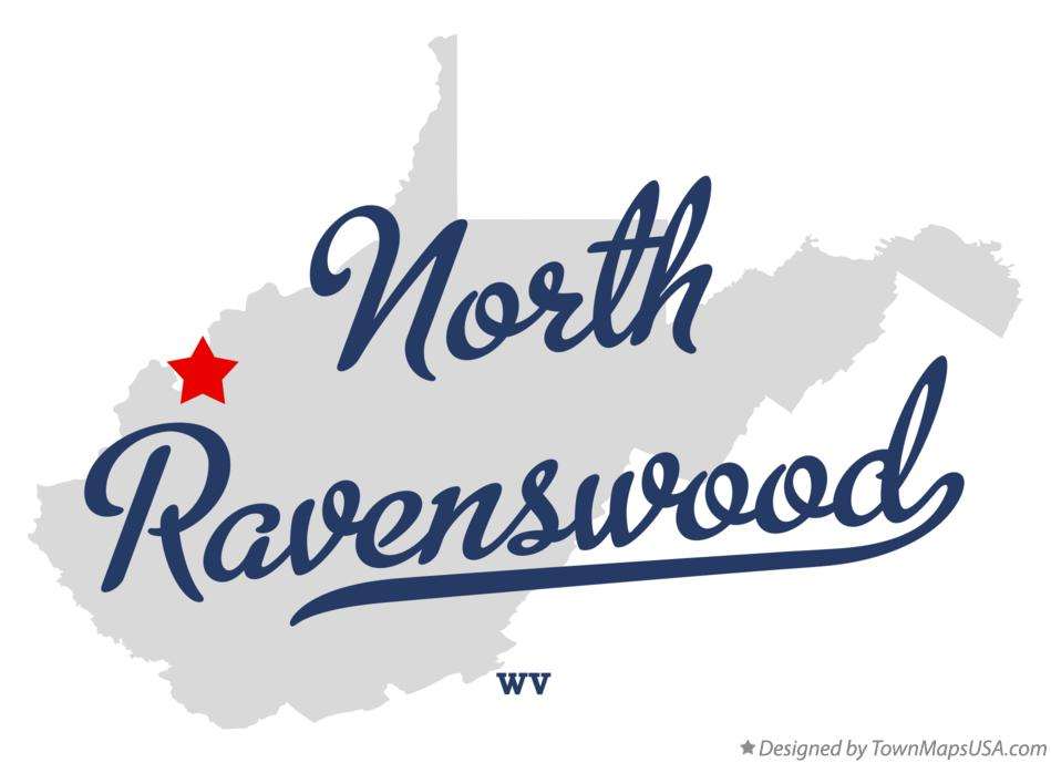 Map of North Ravenswood West Virginia WV