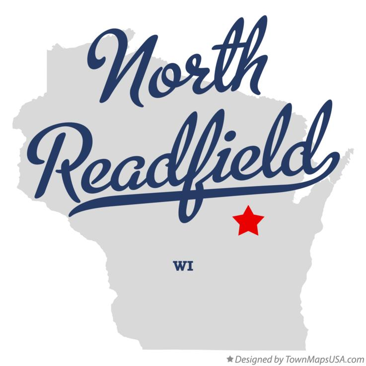 Map of North Readfield Wisconsin WI