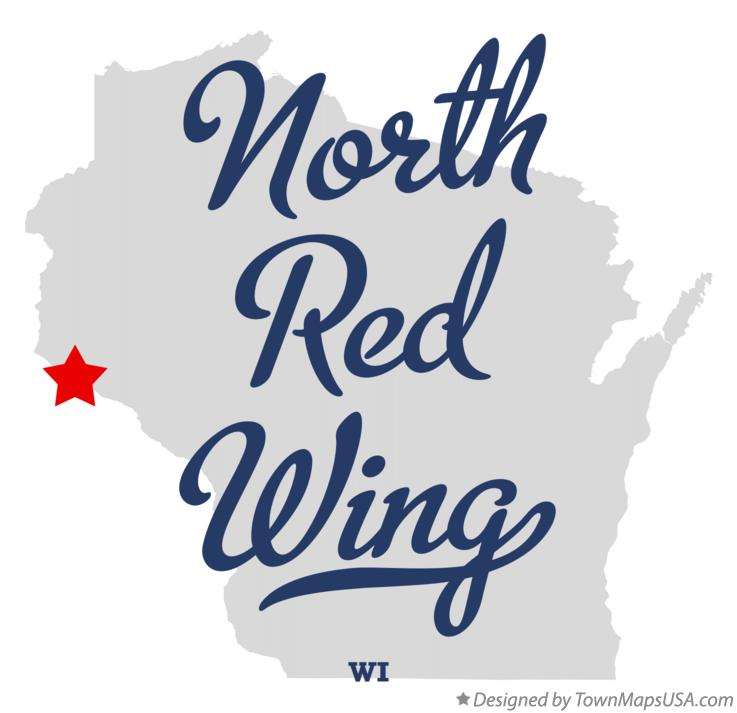 Map of North Red Wing Wisconsin WI