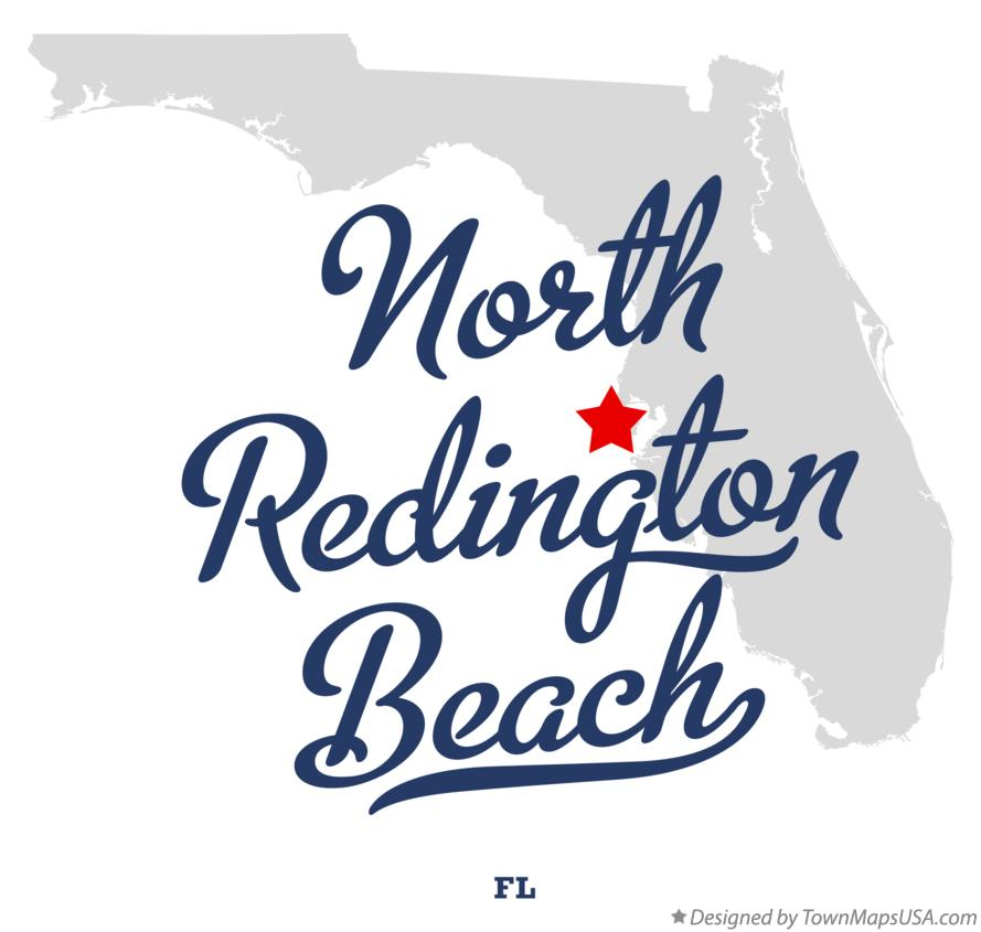 Map of North Redington Beach Florida FL