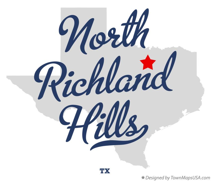 Map of North Richland Hills Texas TX