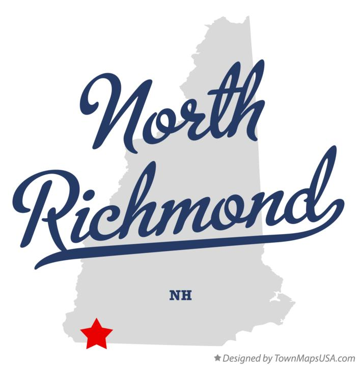 Map of North Richmond New Hampshire NH