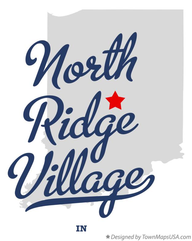 Map of North Ridge Village Indiana IN