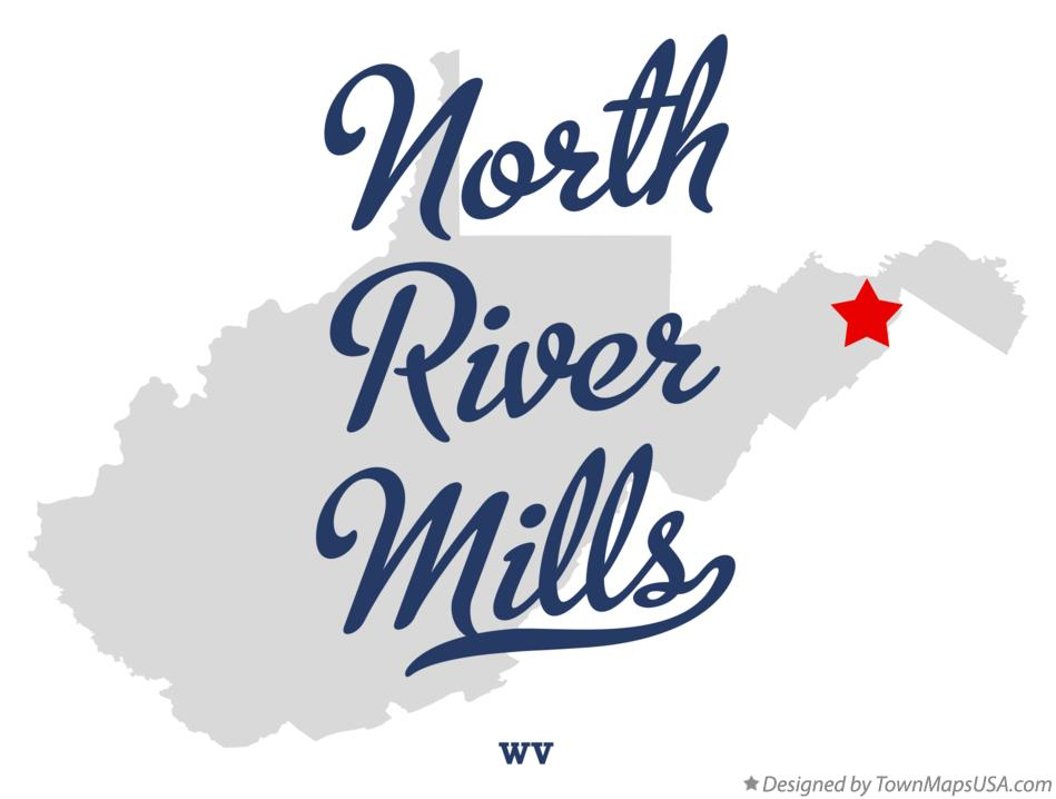 Map of North River Mills West Virginia WV