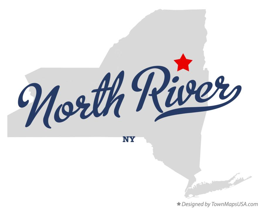 Map of North River New York NY