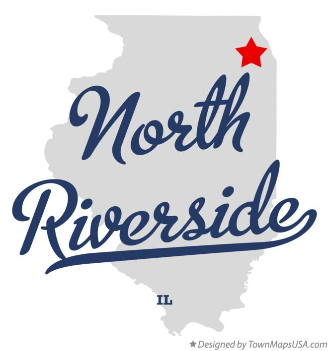 Map Of North Riverside Il Illinois