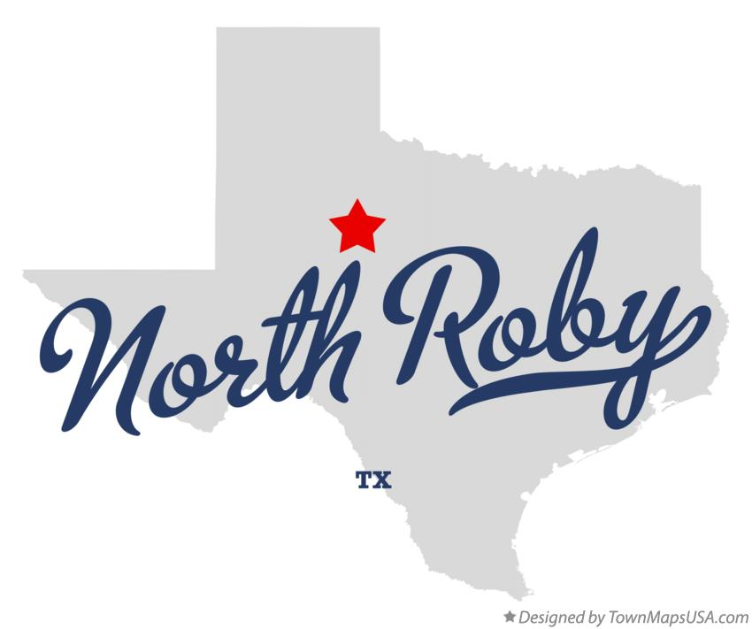 Map of North Roby Texas TX
