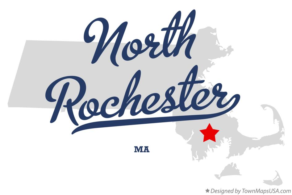 Map of North Rochester Massachusetts MA