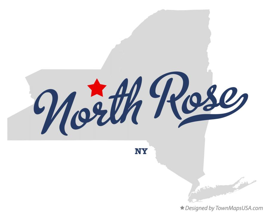 Map of North Rose New York NY