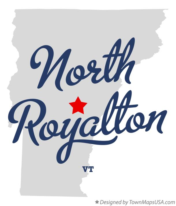 Map of North Royalton Vermont VT