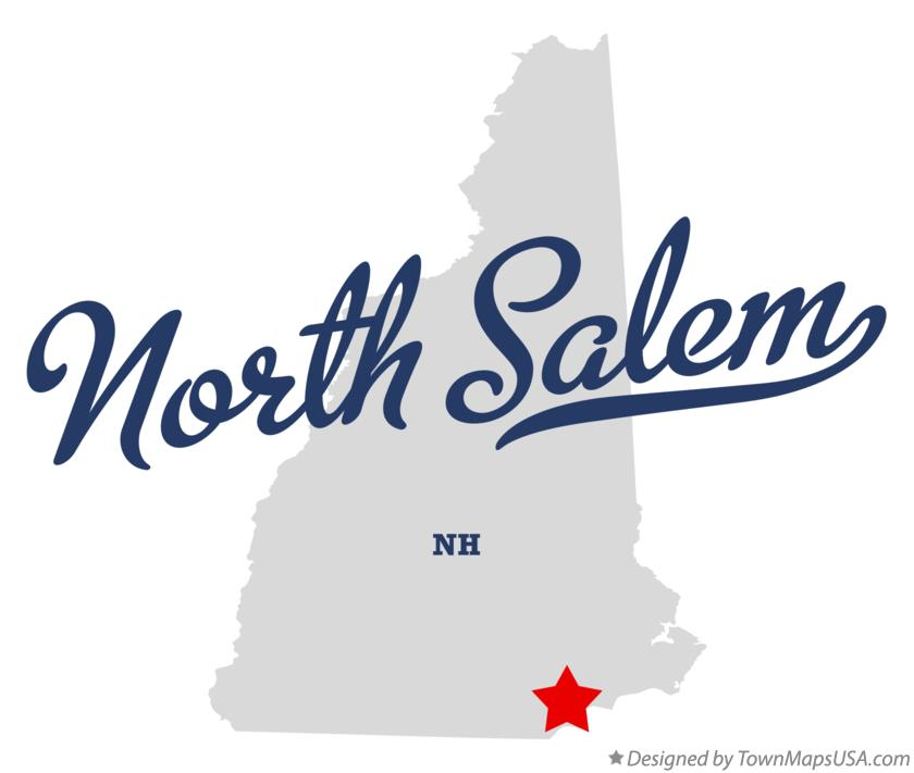 Map of North Salem New Hampshire NH