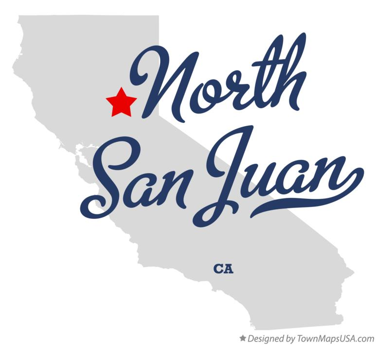 Map of North San Juan California CA