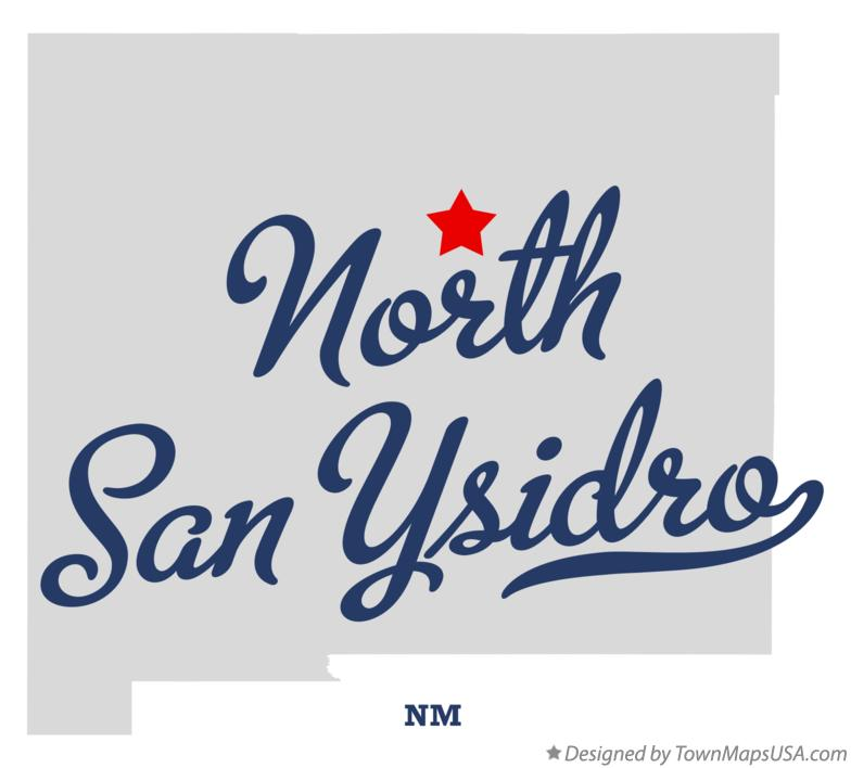Map of North San Ysidro New Mexico NM