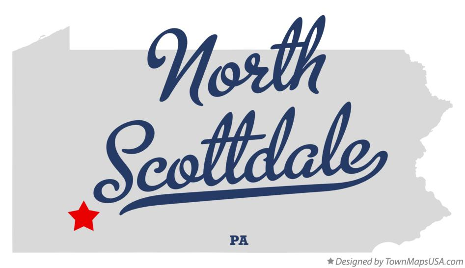 Map of North Scottdale Pennsylvania PA