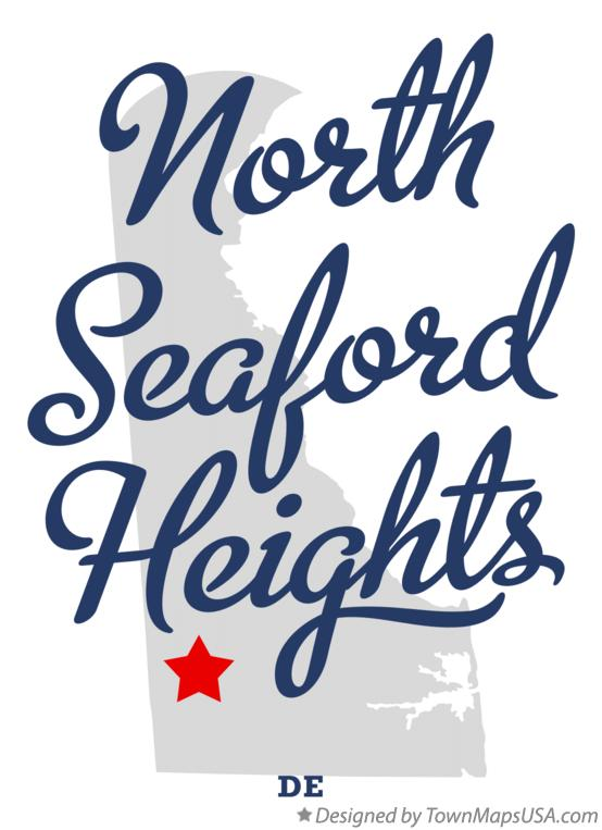Map of North Seaford Heights Delaware DE