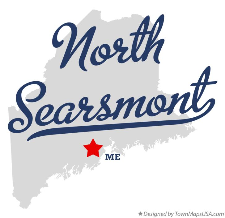 Map of North Searsmont Maine ME
