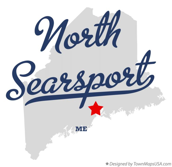 Map of North Searsport Maine ME