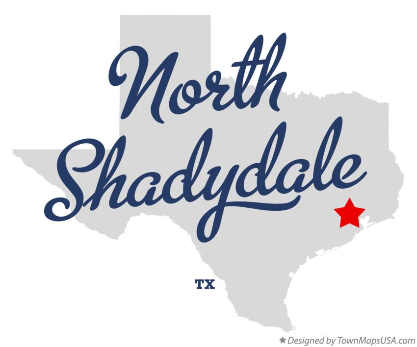 Map of North Shadydale Texas TX