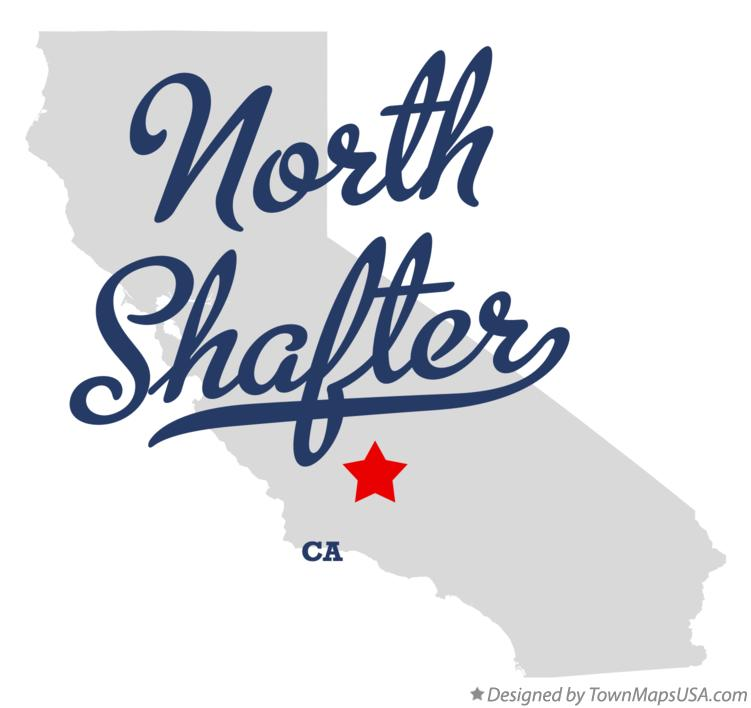 Map of North Shafter California CA