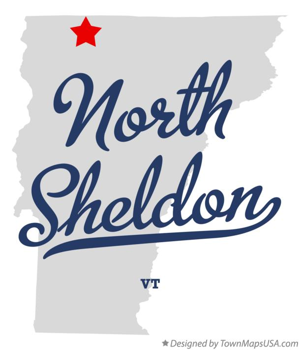 Map of North Sheldon Vermont VT