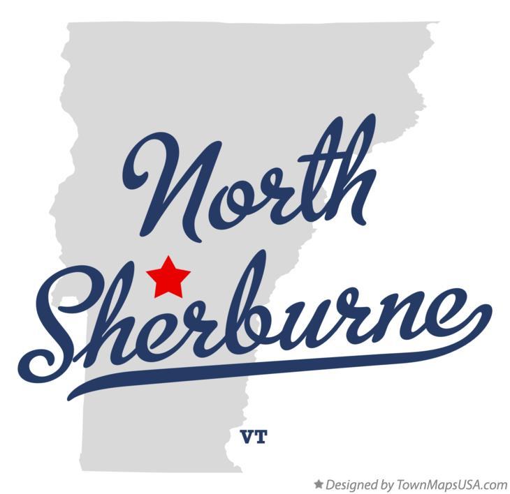 Map of North Sherburne Vermont VT
